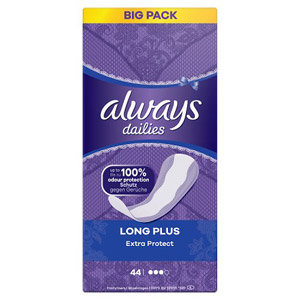 Always Long Plus Liner 44 Pack
