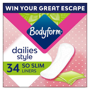 Bodyform Light So Slim Pantyliners 34 Pack