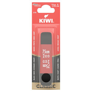 Kiwi Round Black Laces 75cm 5 Hole