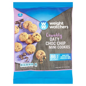 Weight Watchers Oaty Chocolate Chip Mini Cookies 5 Pack 95g