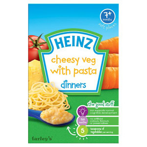 Heinz 7 Month Cheesy Vegetable Pasta Packet