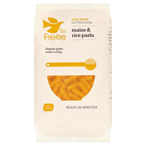 Doves Farm Organic Gluten Free Maize & Rice Fusilli Pasta