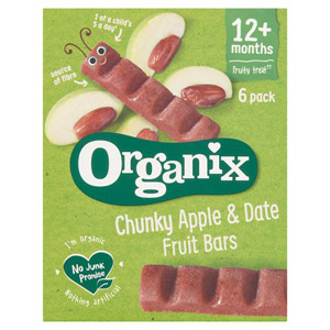 Organix 12 Month Date & Apple Bars 6 Pack