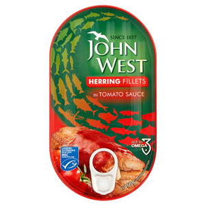 John West/Princes Herring Fillets in Tomato Sauce 160g