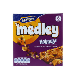 McVities Medley Hobnobs Raisin & Chocolate 5 Pack