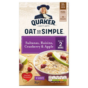 Quaker Oat So Simple Apple Sultana Raisin & Cranberry