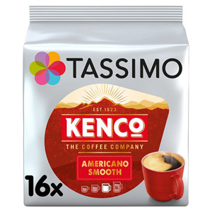 Tassimo Kenco Americano Smooth Coffee Pods 16 Servings