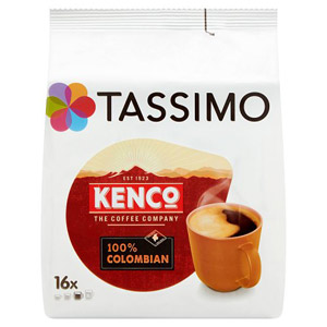 Tassimo Kenco Pure Colombian Coffee 16 Servings