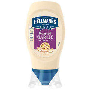 Hellmanns Mayonnaise Squeezy With A Touch Of Garlic 250g