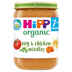 Hipp 7 Month Organic Vegetable Noodles & Chicken