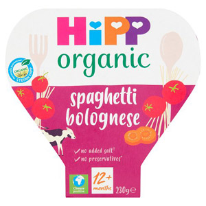 Hipp 12 Month Organic Classic Spaghetti Bolognese Tray Meal