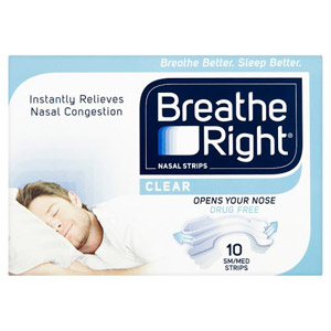 Breathe Right Nasal Strips Clear 10 Pack