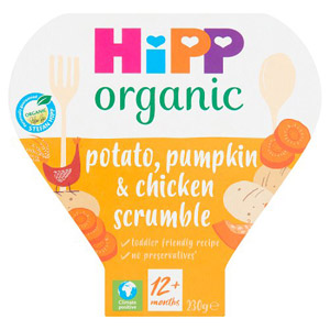 Hipp 1 Year Potato Pumpkin & Chicken Scrumble Tray