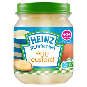 Heinz 4 Month Mum's Own Egg Custard
