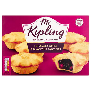 Mr Kipling Apple and Blackcurrant Pies 6 Pack