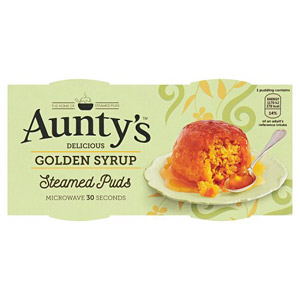 Auntys Golden Syrup Puddings 2 Pack