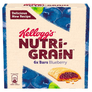 Kelloggs NutriGrain Blueberry 6 Pack