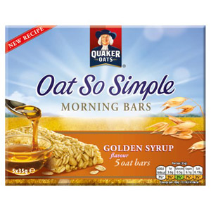 Quaker Oat So Simple Golden Syrup Bars 5 Pack