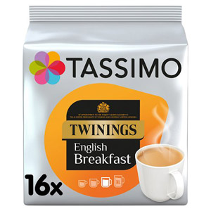 Tassimo Twinings English Breakfast Tea Pods 16 Serving