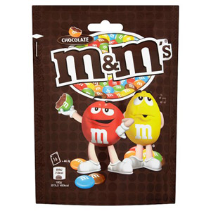 M&Ms Chocolate Pouch 165g