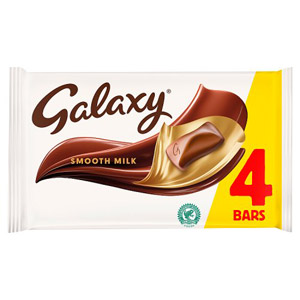 Galaxy Chocolate Bar 4 Pack