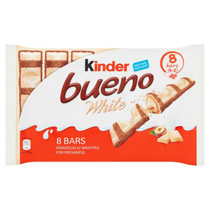 Kinder Bueno White 4 Twin Bars