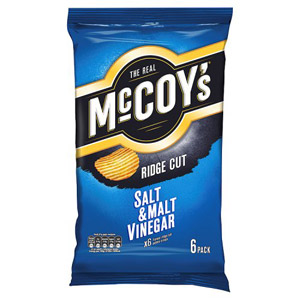 McCoys Salt and Vinegar 6 Pack
