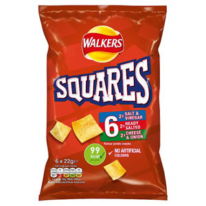 Walkers Square Crisps Assorted 6 Pack