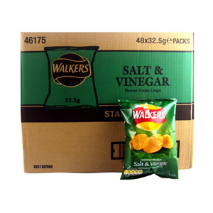 Walkers Crisps Salt and Vinegar x 32