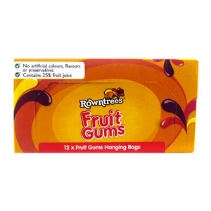 Rowntrees Fruit Gums Bag 12 x 150g