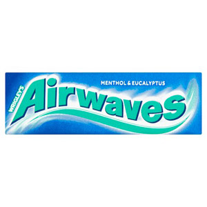 Wrigleys Airwaves Menthol and Eucalyptus Chewing Gum