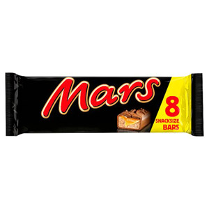 Mars 8 Pack Snacksize Bars