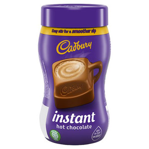 Cadbury Fairtrade Instant Hot Chocolate Add Water 400g