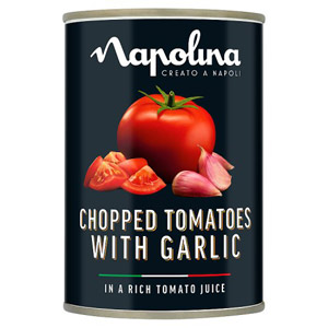 Napolina Chopped Tomatoes with Garlic