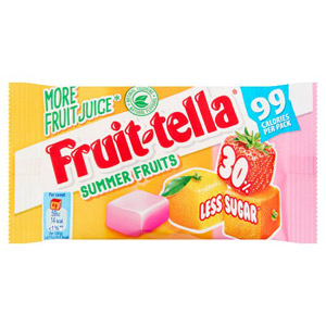 Fruittella Summer Fruits 30% Less Sugar Sachet 99 Cal
