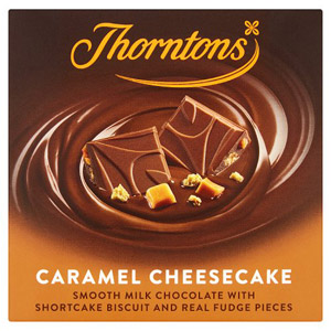 Thorntons Caramel Cheesecake Chocolate Block