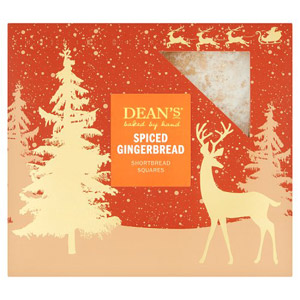 Deans Spiced Gingerbread Shortbread Squares