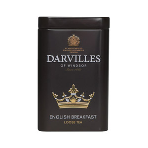 Darvilles Of Windsor English Breakfast Leaf Tea Caddy