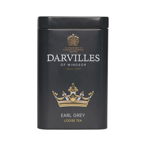 Darvilles Of Windsor Earl Grey Leaf Tea Caddy