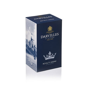 Darvilles Of Windsor Royalty Assam Tea 25s Tag and Envelope