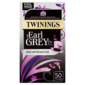 Twinings Earl Grey Decaffeinated Tea Bags 50