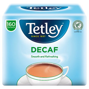 Tetley Tea Bags Decaffeinated 160