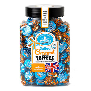 Walkers Nonsuch Salted Caramel Toffees Jar