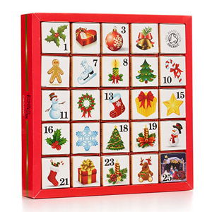 English Tea Shop Ornaments Advent Calendar 25 Pyramid Teabags