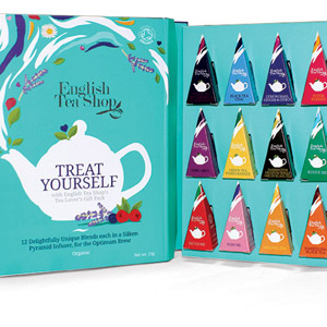 English Tea Shop Book Style Gift Pack 12 Pyramid Tea Bags