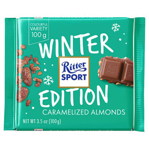 Ritter Sport Winter Edition Caramelized Almonds Bar