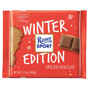 Ritter Sport Winter Edition Spiced Biscuit Bar