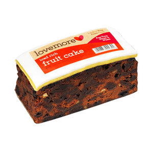 Lovemore Gluten Free Iced Rich Fruit Cake