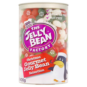 Jelly Bean Factory Christmas Gourmet Selection Canister
