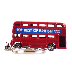 London Bus Keyring Metal